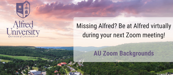 Missing Alfred? Be there virtually during your next zoom meeting with a virtual background