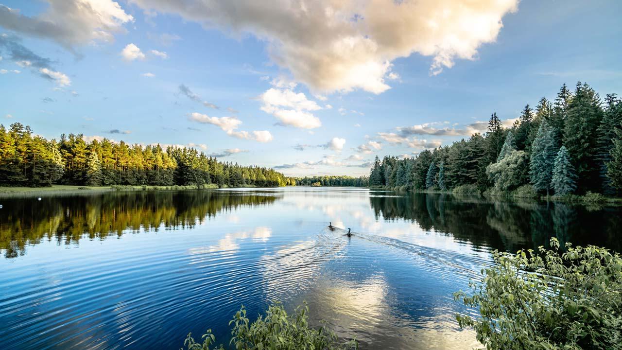 Background Lake Sky Reflecting Hd Wallpaper 15903